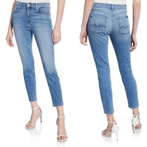 7FAM Gwenevere High Rise Skinny Ankle Jeans Sz 27